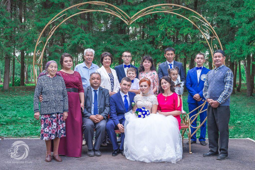 Общее свадебное фото, родственники фото, , отзыв фотографу, фотограф имя Лилия Арсланова